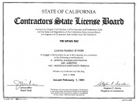 State of California Contractors State License Board